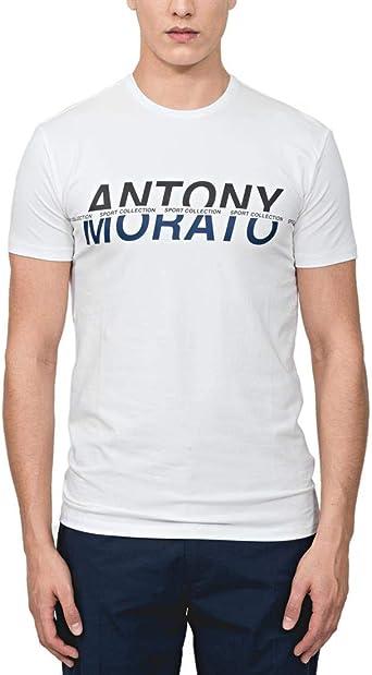 Antony Morato T Shirt Girocollo Manica Corta Camiseta de Tirantes para Hombre