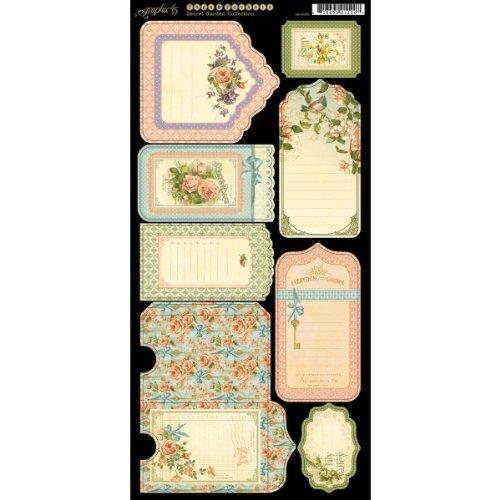Graphic 45 Secret Garden Tags & Pockets (Needle Embellishment)