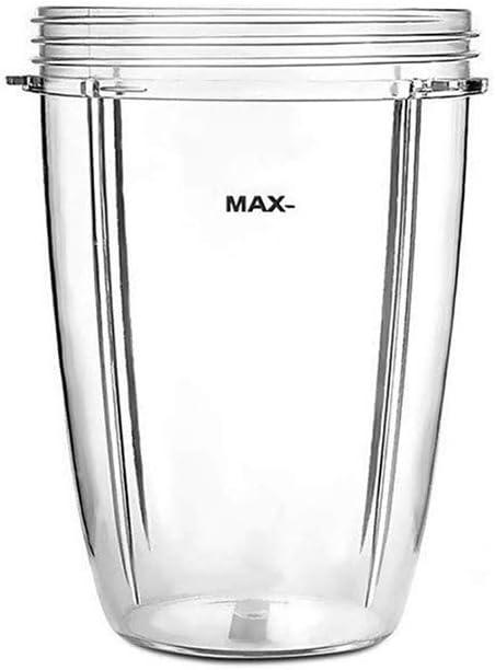 RUICHUANGS Tazas de exprimidor para piezas 18OZ 24OZ 32OZ Tazas claras de repuesto de NutriBullet 600w 900W