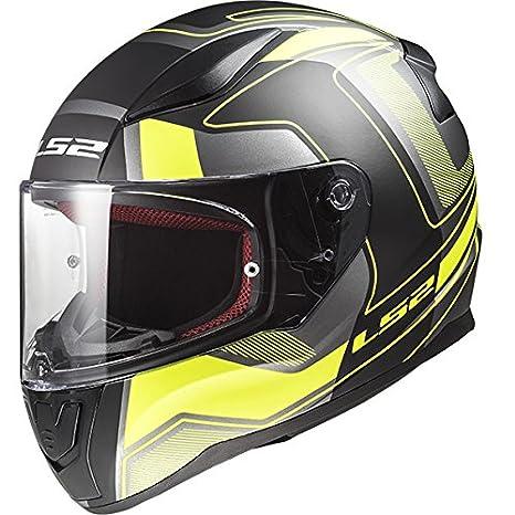 LS2 FF353 Carrera RÁPIDA Casco de Moto de Cara Completa Cascos Integrales - Negro Hi-