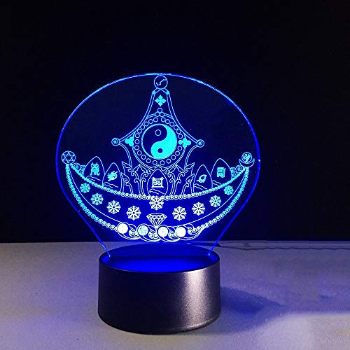 Zylxyd 3D Night Light Touch 7 Colors Changing Creative Abstract Pirate Ship Gossip Modelling Desk Lamp Kids Led Baby Sleeping USB Decor Gift