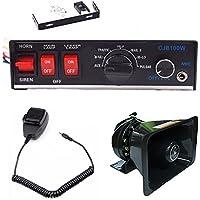 100W 12V 8Sound Loud Speaker PA Horn Siren Mic System Kit for Police Car Fire Truck