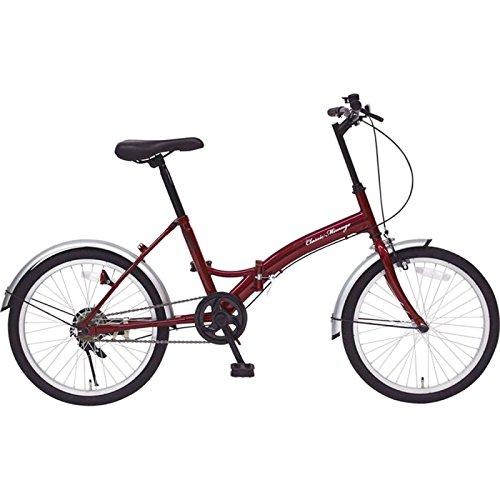 ミムゴ MG-CM20E クラシックレッド [折りたたみ自転車(20インチ)]   B01MT9ZL3N