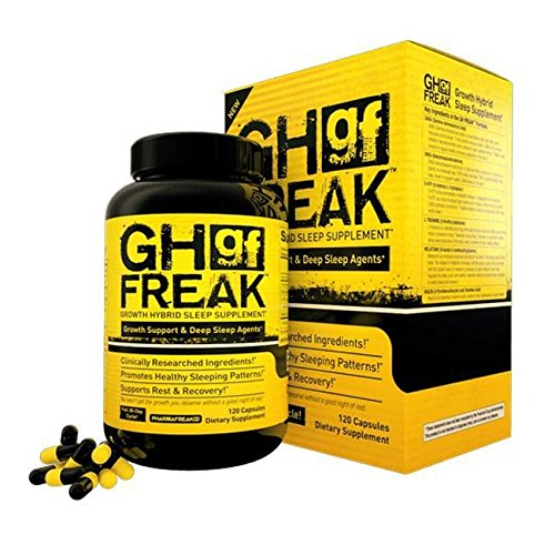 GH FREAK - 120CT - USA - Growth Hybrid Sleep Supplement - Top Rated Bodybuilding Recovery Supplement - Build Muscle and Recover Faster w/ Healthy Sleeping Patterns.