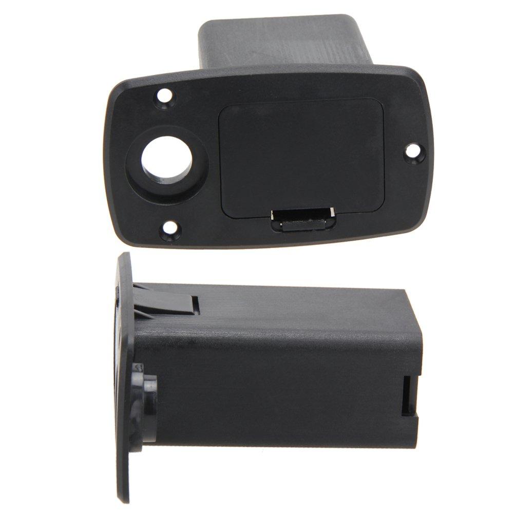 NO.3 Broadroot 1pi/èce Bass pile 9 V Box Coque Supports pour micro pour guitare Noir