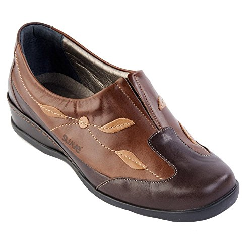 Womens Meryl Wide Fitting E-EE Slip On Shoes Mocca/Coffee D9Bakvuxvh