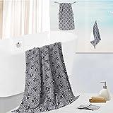 SCOCICI1588 bath towel accessories setFlowers And Skulls Catholic Ceremy Artistic Bathroom Accessor Multi-PurposeHotel, Spa,Home, 13.8''x13.8''-11.8''x27.6''-27.6''x55.2''