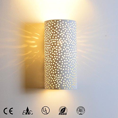 Aplique pared LED 8341 E14 L/ámpara de yeso Dise/ño moderno Arriba y abajo Estrella Apliques de iluminaci/ón de pared interior 2142