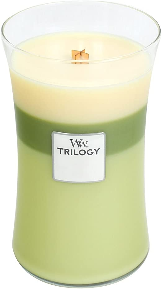 Amazon.com: WoodWick Trilogy Garden Oasis, 3-in-1 Highly Scented Candle, Classic Hourglass Jar, Large 7-inch, 21.5 oz: Home Improvement