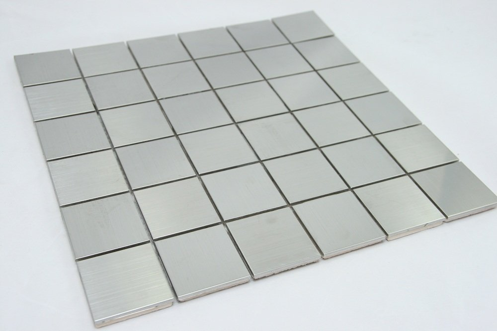 Stainless Steel Metal 2''x2'' Square Tile by Marble 'n things (Image #1)