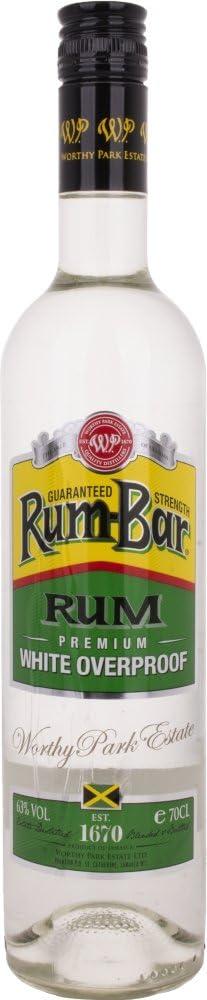 Rum-Bar Premium Overproof White Rum - 700 ml: Amazon.es ...