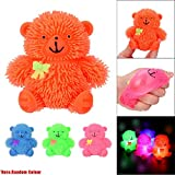Slow Rising Squeeze Kid Toy, OCEAN 9CM Novelty Flashing Puffer Cute Bear Squidgy Sensory Toy Activity and Play Ball