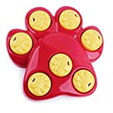 Multifunction Pet Dog Bowl Feeder 7 Holes Dog Paw Hide Treat Toy Puppy Cat Food Puzzle Toys