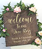 Welcome to Our Wedding Sign | Wood Wedding Welcome Sign | Welcome Wedding Sign | Wooden Welcome Sign | Wedding Welcome Sign | Welcome to Our Love Story Sign