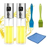 Olive Oil sprayer for cooking Food-grade Glass Oil Spray Bottle Vinegar Bottle Oil Dispenser for BBQ, Making Salad, Cooking,Baking, Roasting, Grilling, Frying (5 Pack)