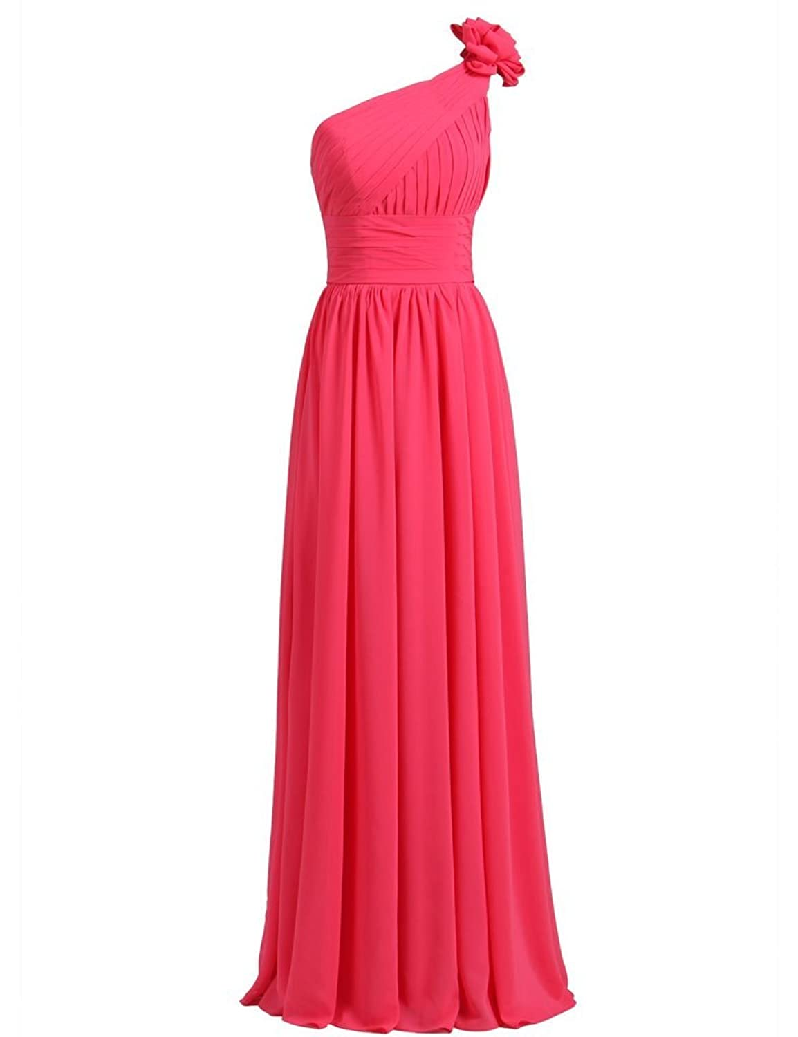 Prommei One Shoulder Long Prom Evening Party Bridesmaids Dress