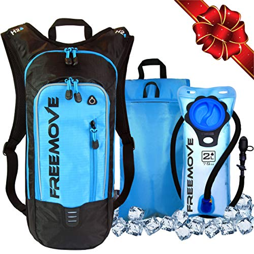 - No.1 Hydration Pack Backpack with 2L Water Bladder & Cooler Bag KEEPS DRINK COOL | Lightweight - Fully Adjustable - Leakproof | Multiple Compartments | 6L Capacity | Camel Pack For Sports Enthusiast