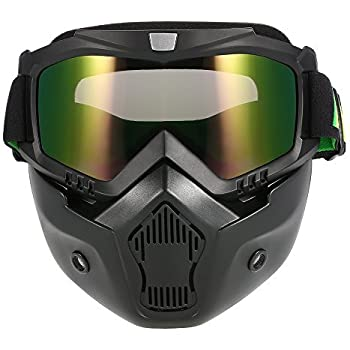 Amazon.com: KKmoon Mortorcycle Mask Detachable Goggles and