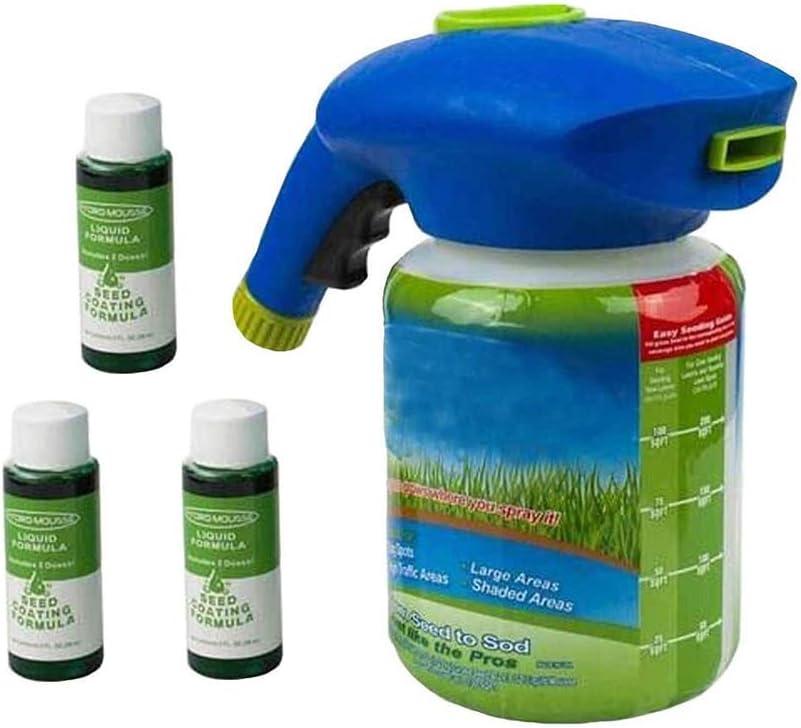 GXX Rociador de Semillas Líquido, Sistema de césped Rociador de Semillas de Hierba Lata de riego de plástico Rociadores rápidos y fáciles con Sustancia de Crecimiento
