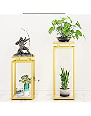 Metal Plant Stands Indoor 3 Pack Tiered Plant Stand Outdoor Metal Stands for Multiple Plants Ladder Potted Indoor Shelf Holder Rack Flower Stands for Centerpieces CHENSAI(Color:White Base)