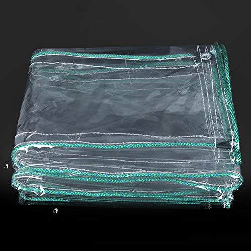 Farmers Market Stall - Tarpaulin Clear PVC Transparent Market Stall Tarps Rainproof, Sheet Sheeting Tarp Cover Eyelets Reinforced, 0.5mm Thick (Size : 1.8MX3M)