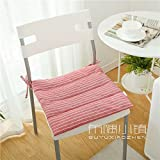 HOMEE the Office Student Automotive Arts Cotton, Linen/Cotton Cushions Dining Chairs with Thin Cushions Anti-Slip Tether Portable ,45X45Cm (Not Tether), 2,005 Small Squares Thin),Red,45X45cm