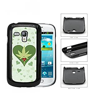 Weed Leaf Valentine And Green Hearts Hard Plastic Snap On Cell Phone Case Samsung Galaxy S3 SIII Mini I8200