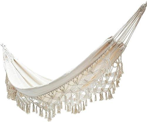Stylishbuy 2 Person Hammock Brazilian Macrame Luxury Comfortable Foldable Hammock Swing Net Chair 200150CM