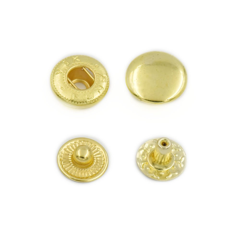 100 Sets 10mm 3//8 Metal Snap Fastener Leather Craft Rapid Rivet Button Setting Sewing Gold