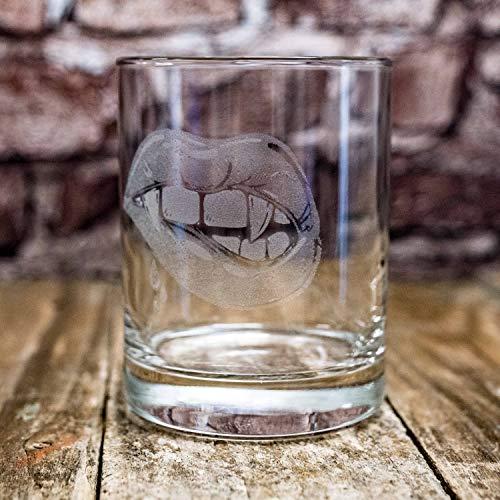 Designer Rocks Glass - Vampire Kiss