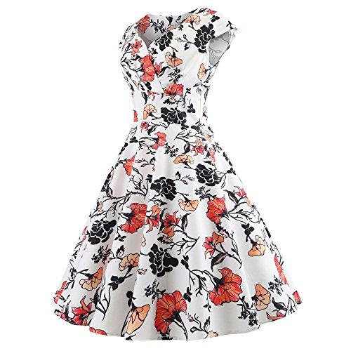 Birdfly Robes Vintage De Style De 50 Femmes, Plus La Taille Des Robes De Boutique De Type 2 Litres: 0