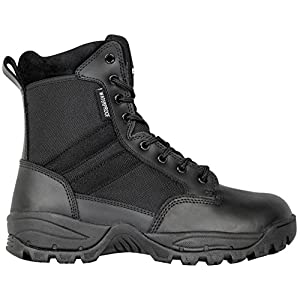 Maelstrom Men's TAC FORCE 8 Inch Waterproof Military Tactical Duty Work Boot with Zipper, Black, 9 M US