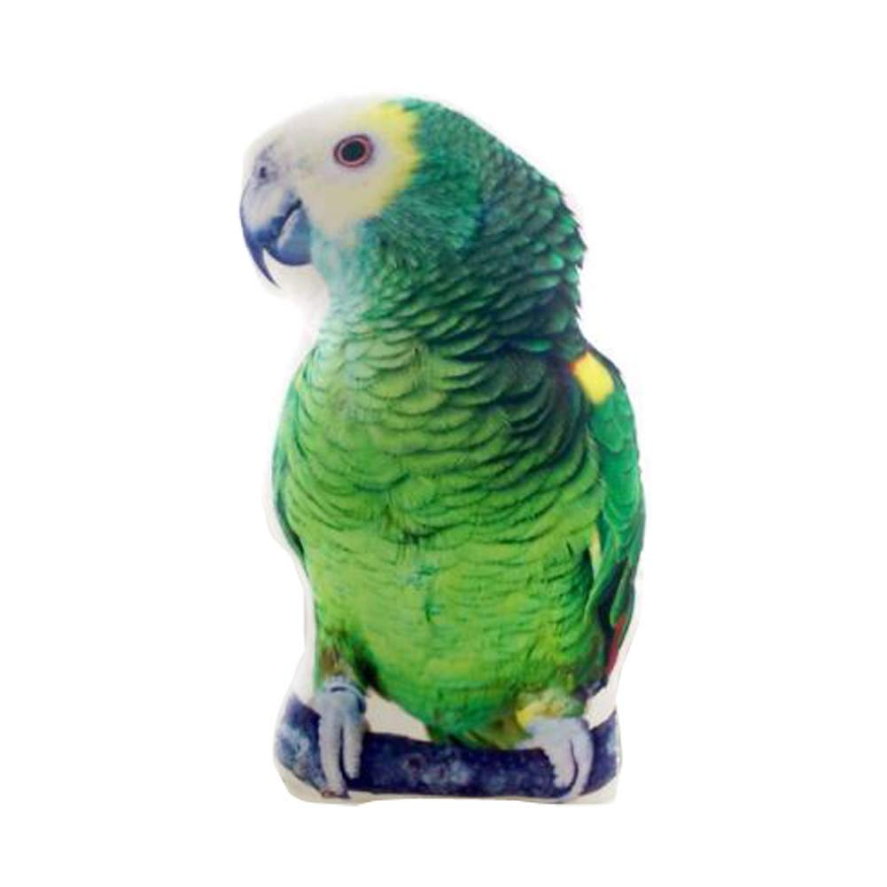 East Majik Animal Simulated Pillow Animal Shape Cushion Pillow Green Parrot