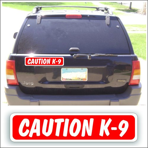 (Magnet Magnetic Sign - Caution K-9 For Car Or Truck With Pets, Show Or Guard Dogs - 3 x 14 inch)