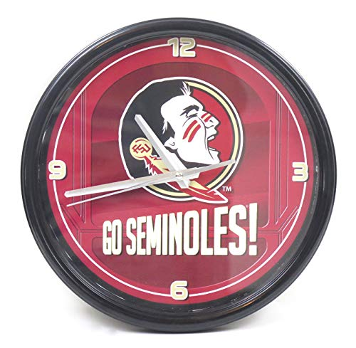 Florida State Seminoles largee Wall Clock. Ideal for Family Room, Man cave or Office Decor.