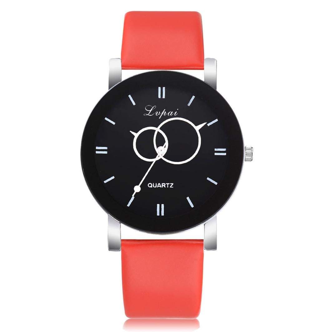 Amazon.com: Womens Watches Ultra-thin Classic Analog Quartz Fashion Wrist Watch with Leather strap,GINELO (Red): Cell Phones & Accessories