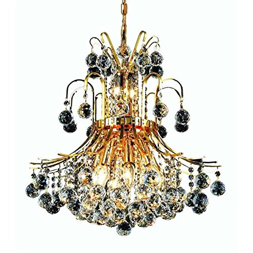 Light 2 Tier Crystal Chandelier - 1