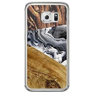 Loud Universe Samsung Galaxy S6 Edge Madala Wood n Wood 006 Printed Transparent Edge Case - Multi Color