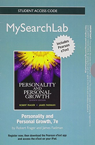 MyLab Search with Pearson eText -- Standalone Access Card -- for Personality and Personal Growth (7th Edition)