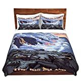 Duvet Cover Brushed Twill Twin, Queen, King SETs DiaNoche Designs Lantern Press - Hawaii Volcanos