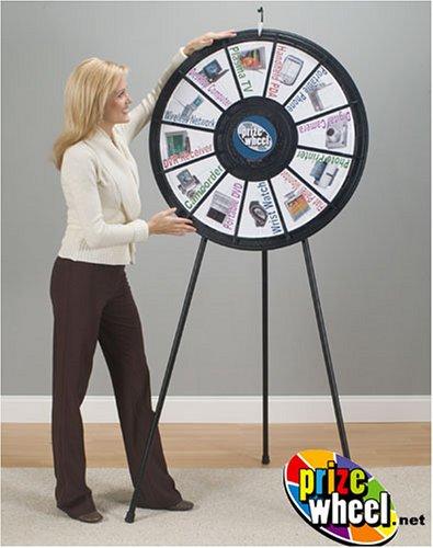 (Black Floor and Tabletop Prize Wheel - Clicker)