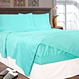 Bed Tite Stretch Fit 800-Thread Count Cotton Rich Luxury Deep Pocket Sheet Set (King, Mint)