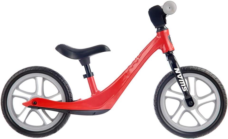 Balance de la bici por 2- 6 años de edad Niño Niña, equilibrio original para bicicleta de entrenamiento con reposapiés, fresco sin pedal Caminar balance de bicicletas para niños y los niños,Rojo