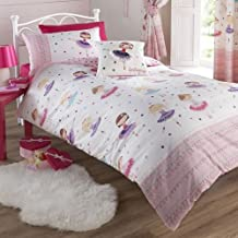 Ballerina Pink Double Duvet Cover and 2 Pillowcase Set Bed Set Girl's Children's Bedding by Kids Club
