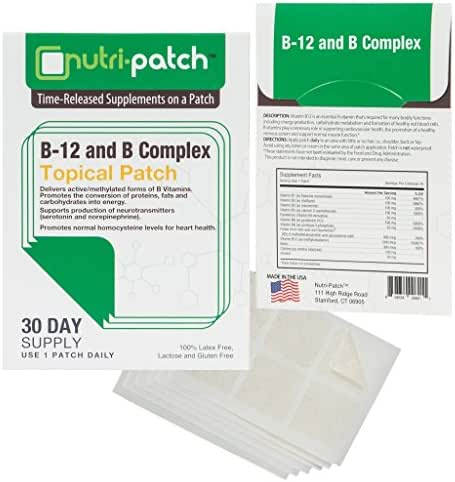 B12 & Complex Topical Patch. Nutrients in a Patch from Nutri-Patch®
