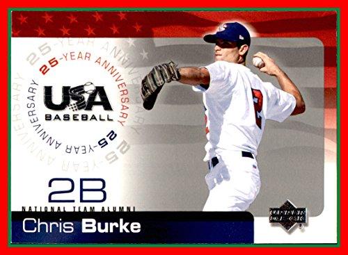 Chris Burke Baseball (2004 Upper Deck Team USA Baseball 25th Anniversary #30 Chris Burke)