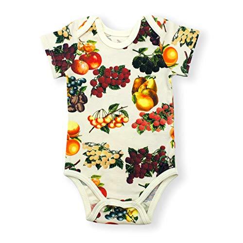 Earthy Organic Baby Short Sleeve Bodysuit Boy Girl (8 Sizes: Preemie-24M) 100% Organic Cotton (Preemie, - Ophelia Fabric