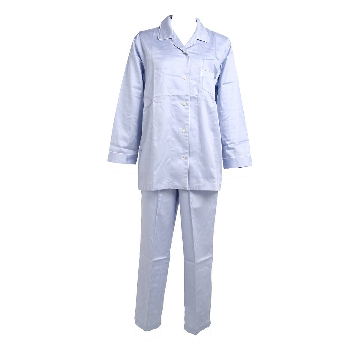 【ワコール/Wacoal】睡眠科学 レディース シャツパジャマ 綿100% B00D6CUG6C L|SX-サックス SX-サックス L