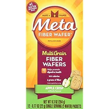 Amazon.com : Metamucil Fiber Wafers Apple Crisp 24 Each