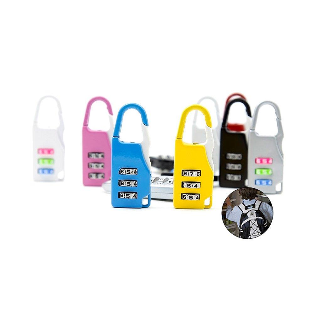 Zhi Jin 12Pack Travel Combination Lock Luggage Padlock Code Locks Gym Lockers Set Bulk Sports Baggage Cabinets by Zhi Jin